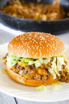 Beef Recipes For Dinner, Ground Beef Recipes, Diet Recipes, Cooking Recipes, Healthy Recipes, Pasta Recipes, Homemade Sloppy Joe Recipe, Homemade Sloppy Joes, Big Mac Pizza
