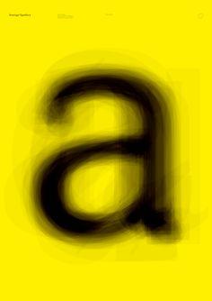 Average Typeface by Jan Vranovský, via Behance