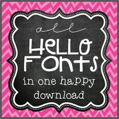 ATTENTION ALL FONTAHOLICS!!! I'm excited to announce that as of September 18, 2004, all 208 Hello Fonts are now available for personal use and available here in one happy, heaping download. All I ask is that you leave a few comments upon downloading. The fonts are True Type files in the standard .ttf font file format.