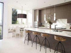 Idee per arredare una cucina moderna - Cucina moderna bianca e legno