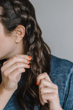 low braided hairstyle, easy no heat hairstyles for the office - My Style Vita