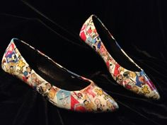 8527f62ff0 Peanuts Gang hand collaged flats by RabbleRouserShoes on Etsy
