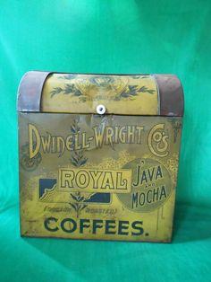 1900's Dwinell Wright Roll Top Coffee Bin | eBay