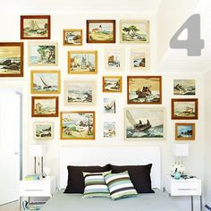 This site had some of the BEST frame groupings for hanging pictures I've seen. SO COOL!