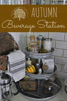 Autumn Beverage Center Kitchen Dining, Kitchen Decor, Kitchen Cart, Vintage, Kitchen Hacks, Tiered Stand, Home Organization, Diy Furniture, Business Furniture
