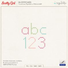 FREE In Stitches Alphabet Brushes by Scotty Girl
