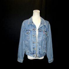 Vtg 80s Punk Levi's Light Blue Stone Wash Denim Jean Jacket Adult Size S/M  #vtg #80s #Levis #StoneWash #denim #jacket #1980s #s/m #punk #distressed #MothballHavenVintageThreads #gvsteam