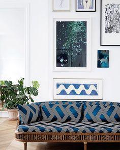#HotelWallpaper's sofa – designed by @kbhsnedkeri for #WallpaperHandmade in collaboration with @dedarmilano – (: @linethitklein)