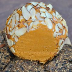 Vegan Cheddar Cheese Ball from Somer McCowan at VedgedOut.com