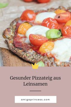 Linseed - the local superfood - Vegan - Pizza Recipes Sausage Pizza Recipe, Vegetarian Pizza Recipe, Deep Dish Pizza Recipe, Vegetarian Lunch, Healthy Pizza Dough, Healthy Pizza Recipes, Vegan Recipes, Dough Pizza, Paleo Vegan