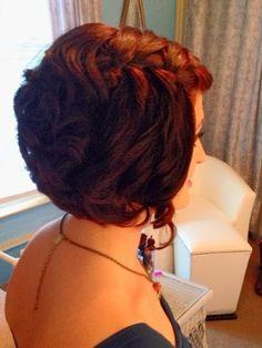 DoItUpGA.blogspot.com  Short formal hair #waterfallbraid
