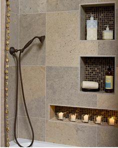 solution rangement salle de bain niches dans carrelage mural - Decoration maison. idees deco maison jardin, couleur peinture-deco-cool