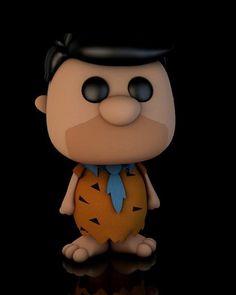 Fred Flintstone Pop! Vinyl style Cinema 4d model #TheFlintstones #FredFlintstone #Cinema4d #PopVinyl #3dModel