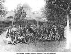 Pinehurst, NC is full of history. Look at this Image detail for -Civil War Veterans Reunion — Moore County, NC, 1906 Siege Of Petersburg, Confederate States Of America, Great North, Canadian History, Reunions, American Civil War, Soldiers, North Carolina, Southern