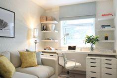 Shelves each side of the window