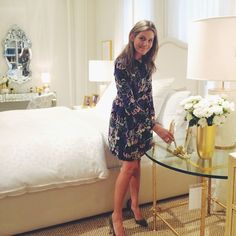 My bedroom at the AERIN Showroom, feeling right at home. #AERINHome @nydc #WNWN