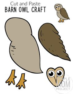 Forest Animal Crafts, Animal Crafts For Kids, Crafts For Kids To Make, Bird Template, Owl Templates, Toddler Art Projects, Easy Art Projects, Printable Crafts, Free Printable