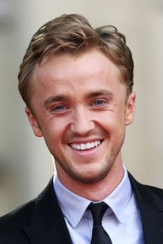 (UK TABLOID NEWSPAPERS OUT) Tom Felton attends the world premiere of Harry Potter and the Deathly Hallows Part 2 at Trafalgar Square on July 7, 2011 in London, England.