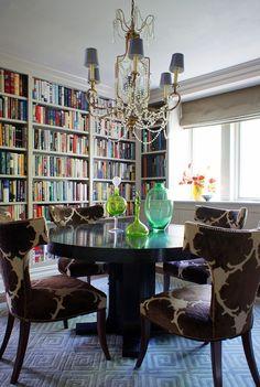 Christopher Burns Portfolios-love the chairs, light fixture, rug, etc...