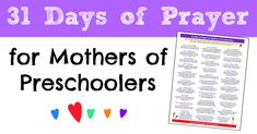 31 Days of Prayer for Mothers of Preschoolers