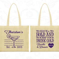 To Have And Hold Bags Wedding Favor Beach Tropical