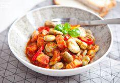 Bób po cygańsku na ostro z boczkiem. PRZEPIS Kung Pao Chicken, Pork, Dinner, Sweet, Ethnic Recipes, Pierogi, Kale Stir Fry, Dining, Candy