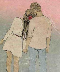 Couple Sketch, Cute Couple Drawings, Anime Couples Drawings, Love Drawings, Couple Art, Drawing Sketches, Art Drawings, Animé Romance, Tumblr Tattoo