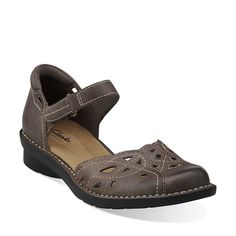 Nikki Tempo in Brown Waxy Leather - Womens Sandals from Clarks $69.99