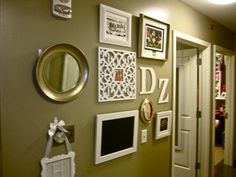Pinner before:Create your own gallery wall with things all of your roommates will enjoy!