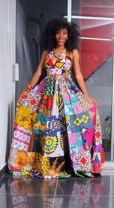 20 Ankara Maxi Gown to wear for anytime - Reny styles African Print Dresses, African Fashion Dresses, African Attire, African Wear, African Women, African Dress, African Prints, African Style, Ankara Maxi Dress