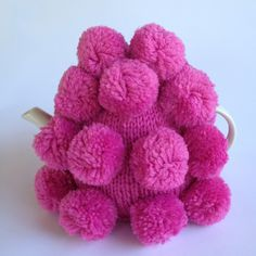 Pink Bobble Tea Cosy Tea Cosies, Cozies, Tea Cozy, Teapot, Chalk Paint, Cosy, Tea Time, Decoupage, Raspberry