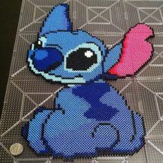 Disney Stitch perler beads by mrsjennyg Hama Beads Design, Diy Perler Beads, Perler Bead Art, Pearler Beads, Fuse Beads, Melty Bead Patterns, Pearler Bead Patterns, Perler Patterns, Beading Patterns