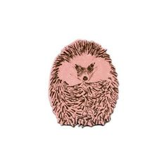 Hedgehog Junior Round Magnet found on Polyvore featuring home, home decor, office accessories, colored refrigerators, circular magnets, magnets refrigerator, magnets fridge and round magnets Top Home Products...