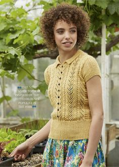 1930s look, by Pat Menchini, in The Knitter 86