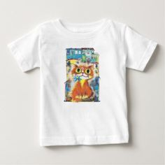 Red cat infant t-shirt