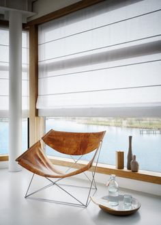 Luxaflex® Roman Shades - wit www. Fabric Blinds, Curtains With Blinds, Tela Solar, Scandinavian Interior Design, Window Styles, Modern Wall Decor, New Home Designs, Window Coverings, Roman Shades