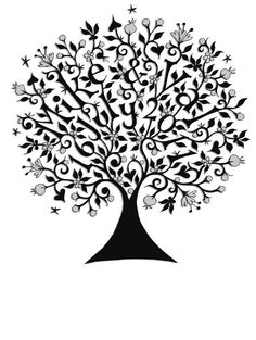 Wedding tree. This would be cute to add color to the names and date.