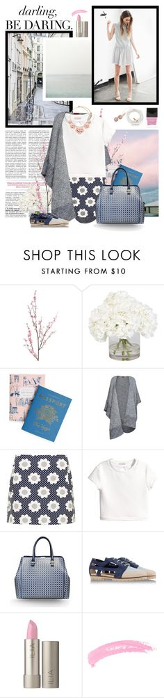 """Daring Daises"" by fluffiness ❤ liked on Polyvore featuring Pier 1 Imports, Ethan Allen, Rifle Paper Co, Missoni, Topshop, H&M, Victoria Beckham, Deux Souliers, Ilia and Butter London"