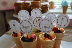 Grayson's Ice Cream Parlour 1st Birthday  | CatchMyParty.com