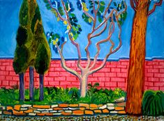 David Hockney - Guest House Wall, 2000 oil on canvas, in. David Hockney Artwork, Contemporary Artists, Modern Art, Museum Ludwig, Yorkshire, Guggenheim Bilbao, Pop Art Movement, Collage, Arte Pop