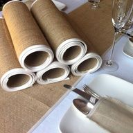 Burlap Wedding Table Runners Set of 6 ivory by BaloolahBunting on Etsy