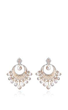 Ethnic Chandbalis Earrings by Farah Khan Fine Jewelry for Preorder on Moda Operandi