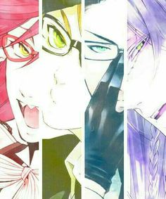 Grell, Ronald, William, Undertaker, Grim Reapers; Black Butler