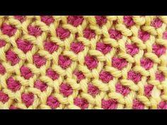 Tunisian crochet honeycomb stitch in the round - YouTube