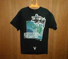 CHRISTMAS 25% Vintage 90s Rare Graphic Stussy A.C Hip Hop Swag Skate Surf Punk Rock Ringspun T-Shirt sz L tee Shirt