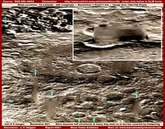 Why NASA Never Went Back to the Moon: Towers, some several miles high, and complex constructions [above] were photographed on the Moon and blurred before release to the public. (thanks to www.marsanomalyresearch.com)