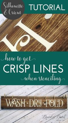 Frustrated with your stenciled Cricut/Silhouette signs bleeding? Learn how to get crisp paint lines when stenciling with vinyl using my easy tried-and-true method for stencil painting signs. Get clean lines, every time! Stencils For Wood Signs, Stencil Wood, Diy Wood Signs, Stencil Painting, Stencil Diy, Painting Signs On Wood, Homemade Wood Signs, Country Wood Signs, How To Make Stencils