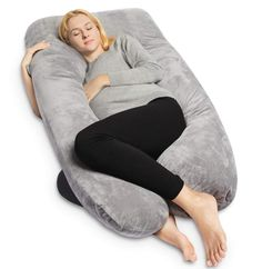 Pharmedoc Pregnancy Pillow, U-Shape Full Body Pillow and Maternity Support with Detachable Extension - Support for Back, Hips, Legs, Belly for Pregnant Women Pregnancy Pillow, Maternity Pillow, Pregnancy Tips, Pregnancy Products, Maternity Nursing, Fetal Movement, Gifts For Pregnant Women, U Shaped Pillow, Nursing Pillow