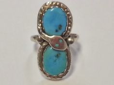Vintage Signed Zuni Sterling Silver Snake Wrap around by 24kOwl, $55.55
