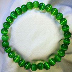 Mexikanische Grüne Opal Heilstein Perlen Armband